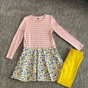 Tea Collection dress and leggings - size 7